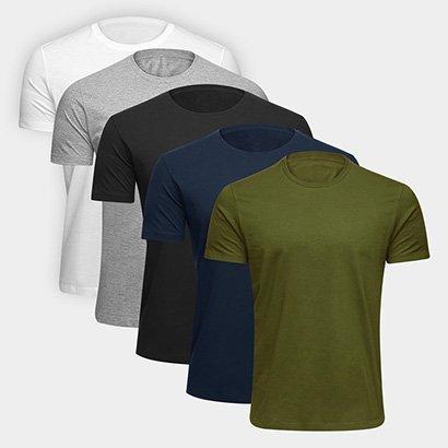 Kit Camiseta Básica c/ 5 peças Volare Masculino