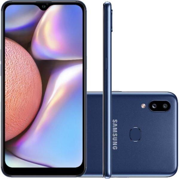 "Smartphone Samsung Galaxy A10s 32gb 6.2"" 2gb Ram Câmera Traseira Dupl"