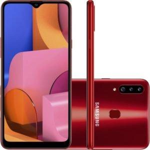 "Smartphone Samsung Galaxy A20s 32gb 6.5"" 3gb Ram Câmera Traseira Trip"